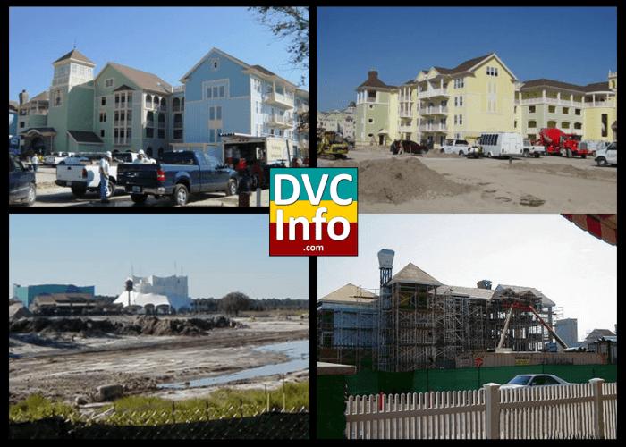 Disney's Saratoga Springs Resort being built