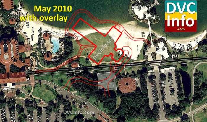 Planned location of the Villas at the Grand Floridian