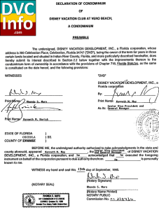 Vero Beach Condo Declaration filed