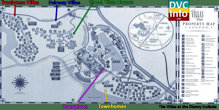 Villas at the Disney Institute Map