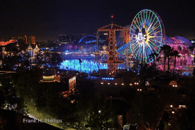 World of Color view from the Villas at the Grand Californian
