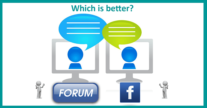 Forum or Facebook Group?