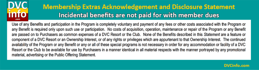 DVC Perks are not paid by member dues