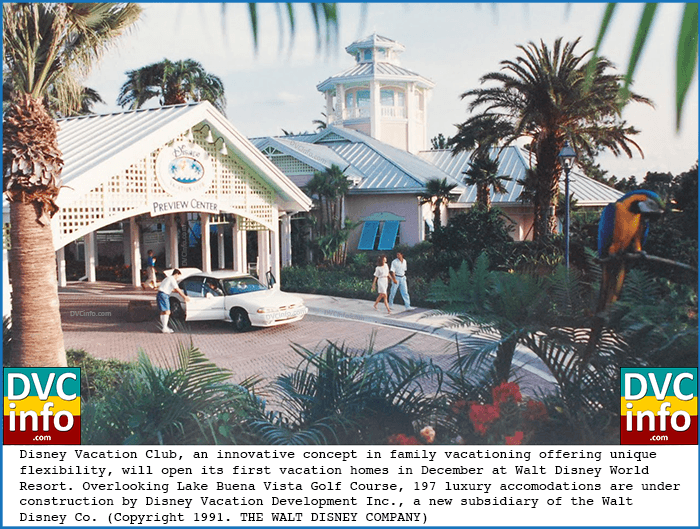 1991 Press Release announcing the upcoming opening of the Disney Vacation Club resort