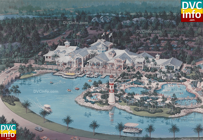 The Disney Vacation Club resort rendering from 1991