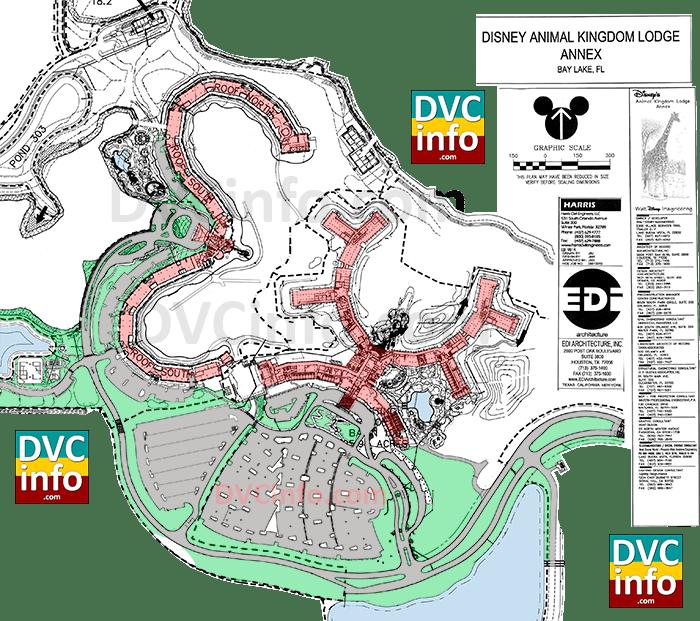 2006 Disney's Animal Kingdom Villas site plan