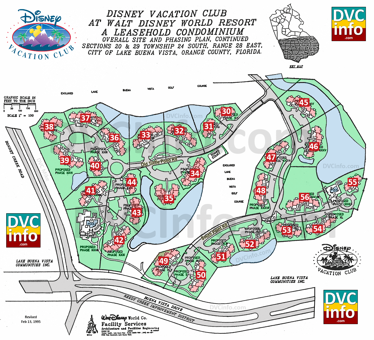 disney vacation club site plan subsequent phases click for larger image