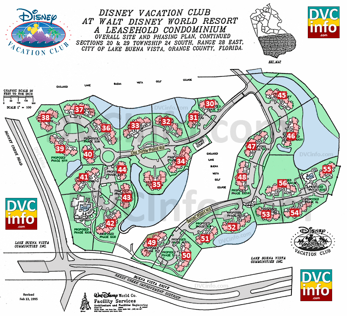 Disney Vacation Club Site Plan subsequent phases