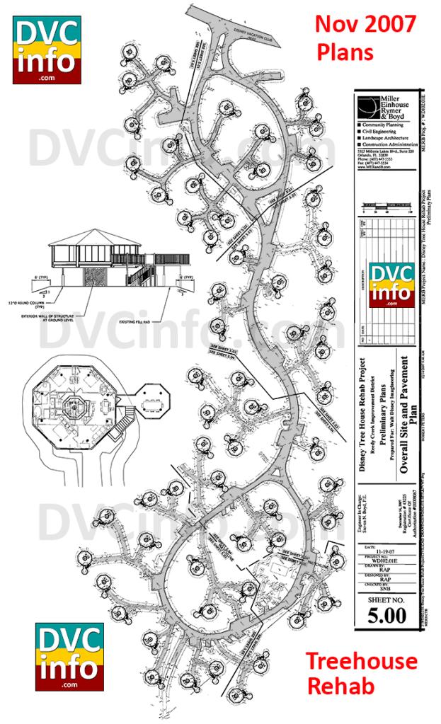 Nov 2007 plan for Treehouse Villas Rehab
