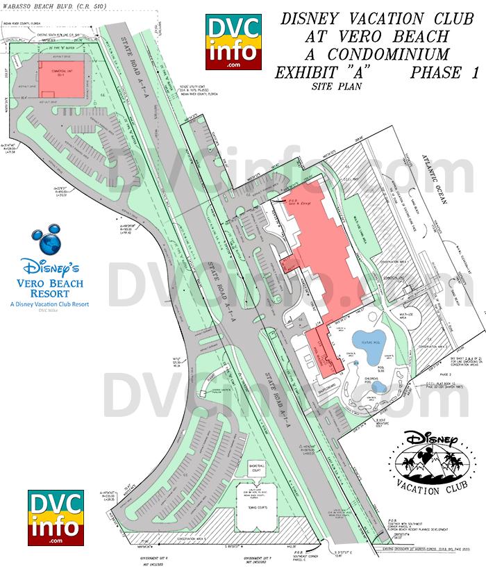Disney's Vero Beach Site Plan