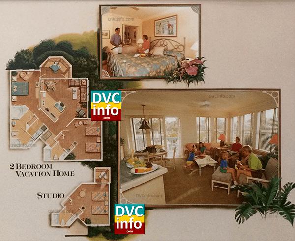 1991 Disney Vacation Club resort 2-BR layout