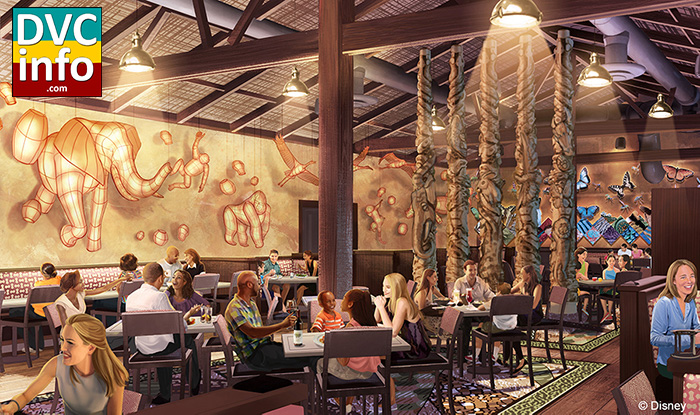 Tiffins signature restaurant on Discovery Island