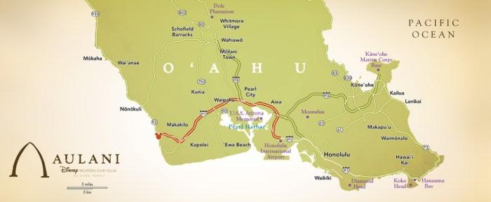 Aulani location on Oahu Island