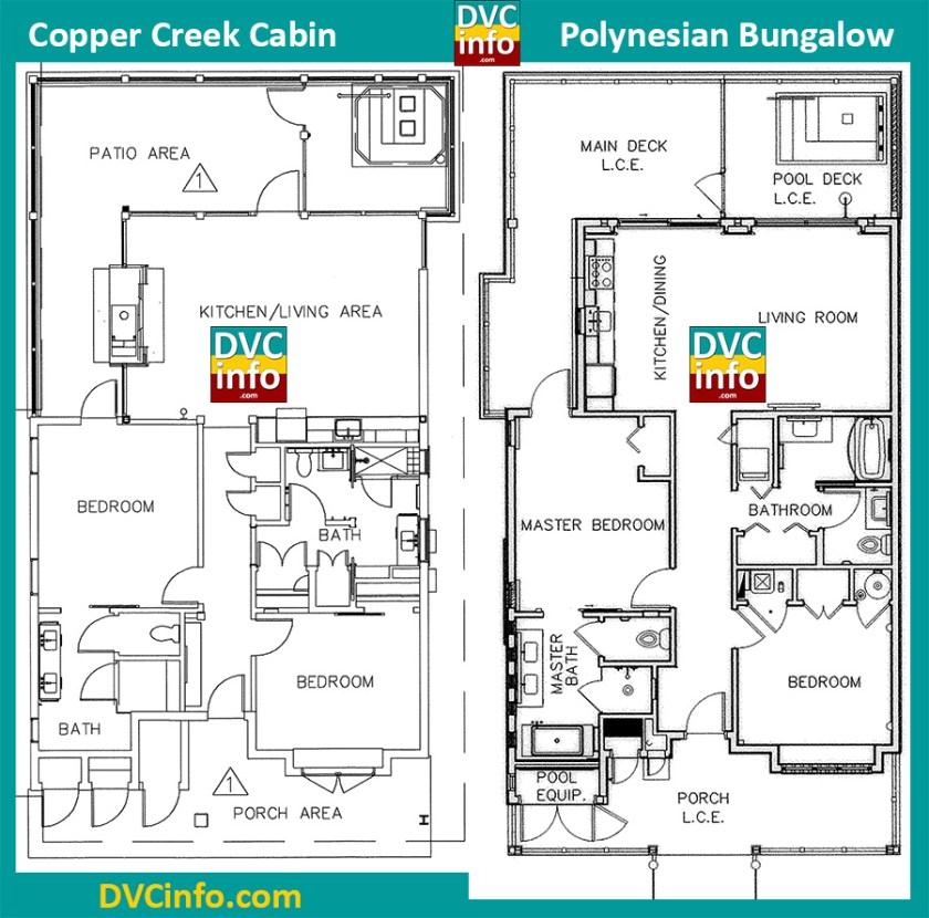Copper Creek Cabin vs. Polynesian Bungalow