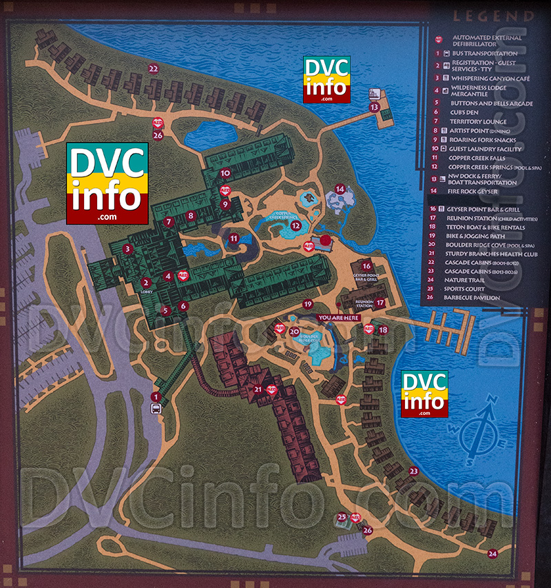 New Wilderness Lodge Map
