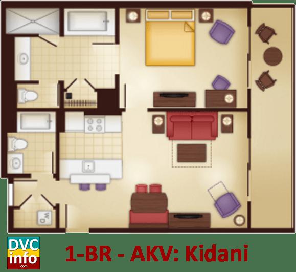 1-bedroom floor plan - AKV Kidani Village