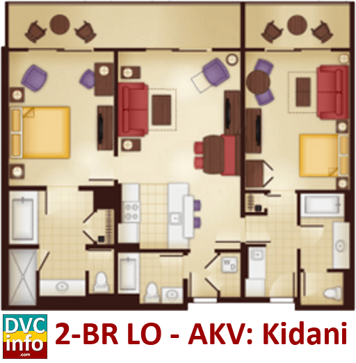 Disney 39 s animal kingdom villas dvcinfo for 2 bedroom villa floor plans