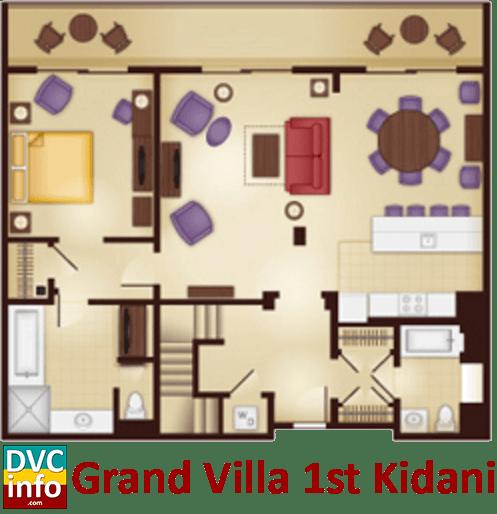 Grand Villa 1st floor plan - AKV Kidani Village