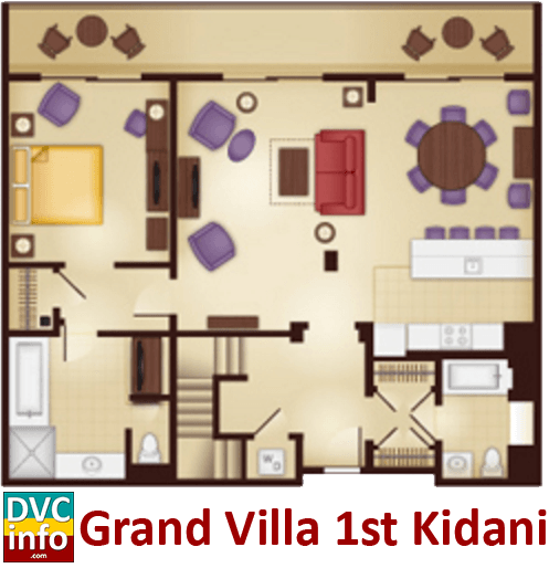 Grand Villa 1st floor plan - AKV Kidani Village