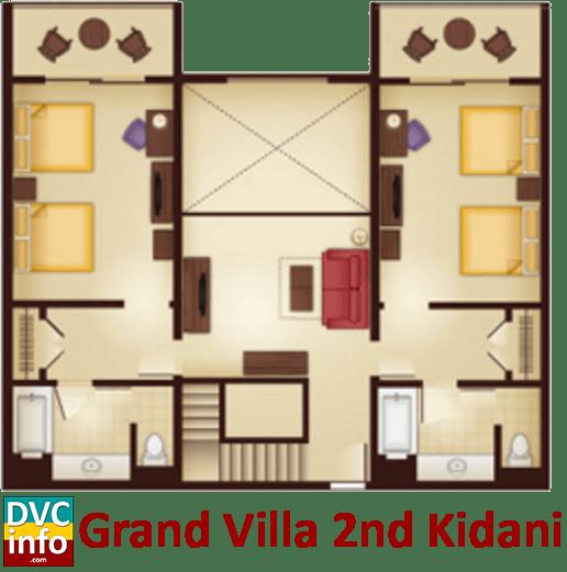 Grand Villa 2nd floor plan - AKV Kidani Village