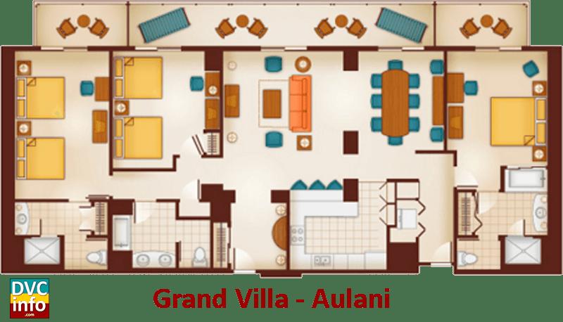 Grand Villa floor plan - Aulani