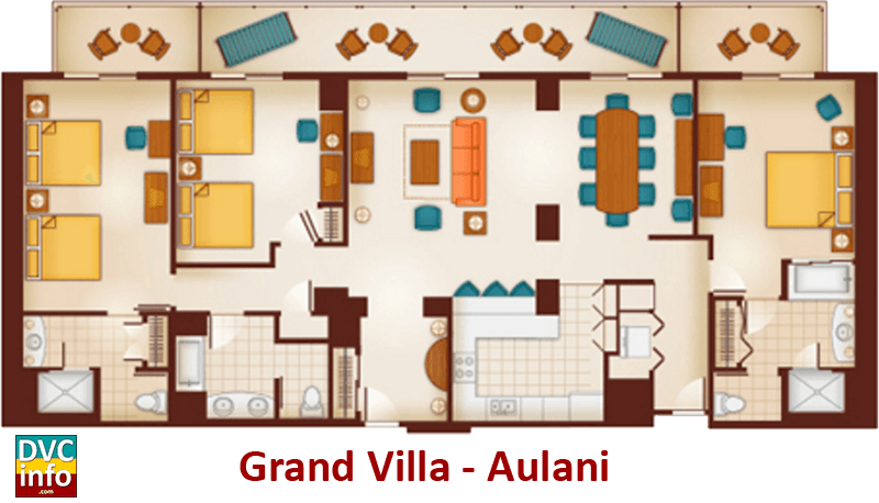Grand Villa Floor Plan   Aulani