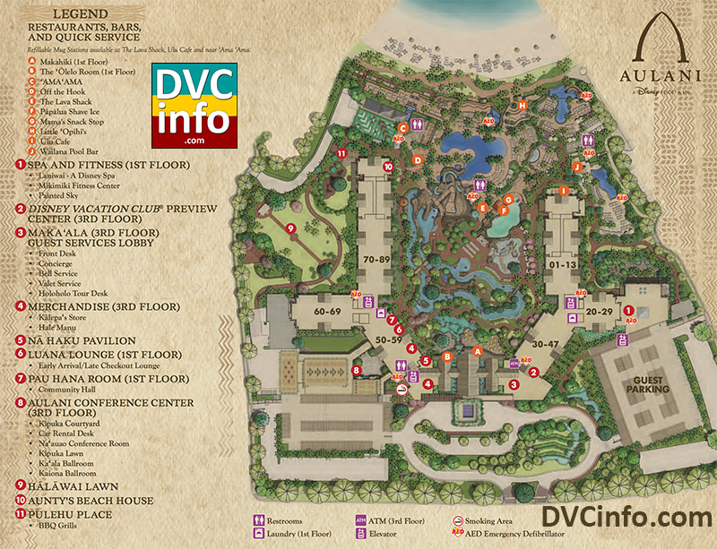 Aulani Resort Map