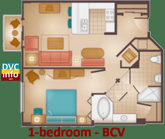 1-bedroom floor plan - Beach Club Villas