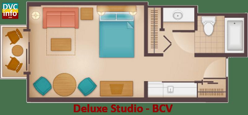 Studio floor plan - Beach Club Villas