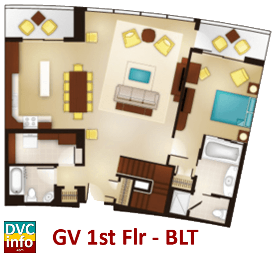 Grand Villa 1st floor plan - Bay Lake Tower