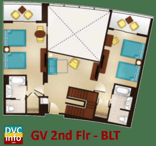 Grand Villa 2nd floor plan - Bay Lake Tower