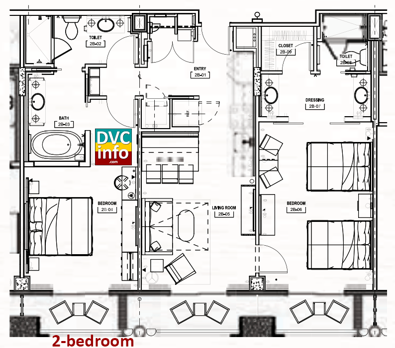 Copper Creek Villas - 2-bedroom floor plan
