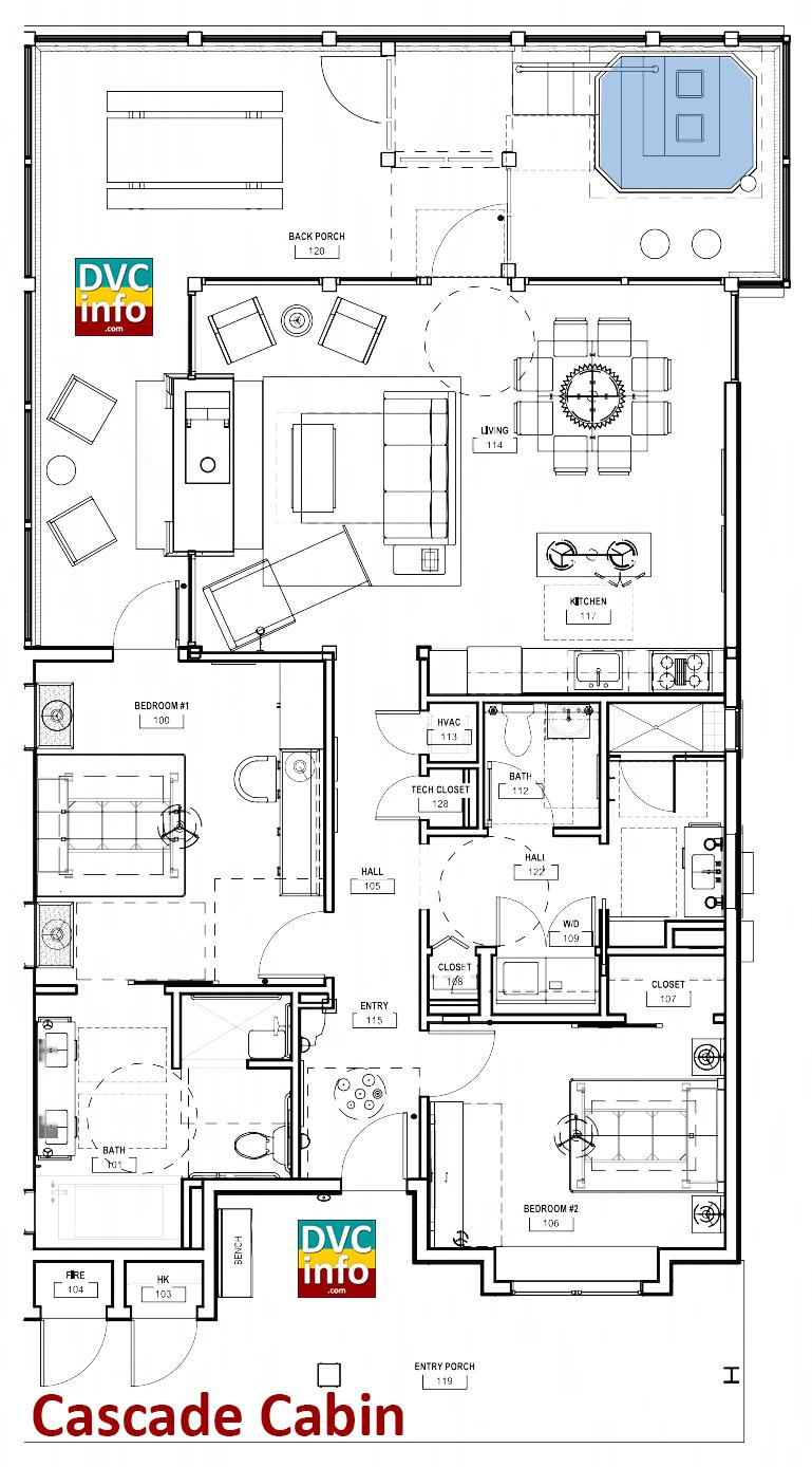Copper Creek Villas - Cabin floor plan