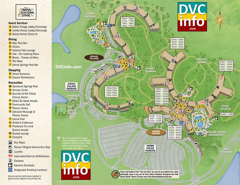 Disney's Animal Kingdom Villas resort map