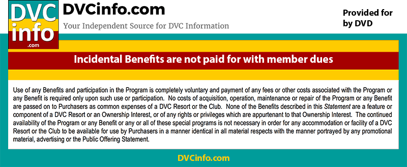 DVC Perks are not paid for with member dues