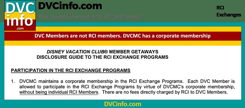 DVC members are not RCI Members
