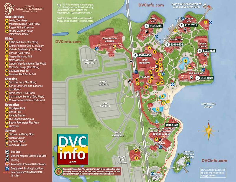The Villas at Disney's Grand Floridian Resort & Spa Resort Map