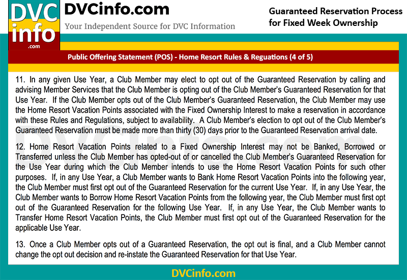 DVC Guaranteed Week Reservation Rules (4 of 5)