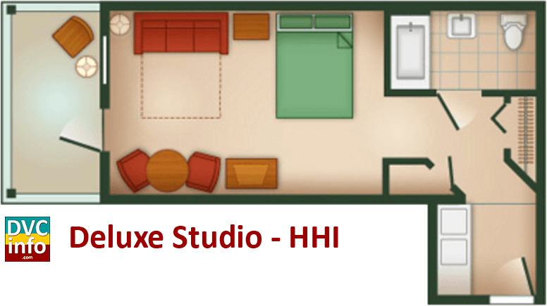 Studio floor plan - Hilton Head Island