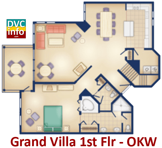 Grand Villa 1st floor plan - Old Key West