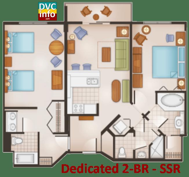 Dedicated 2-BR floor plan - Saratoga Springs Resort