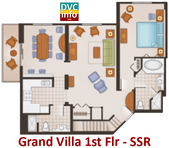 Grand Villa 1st floor plan - Saratoga Springs Resort