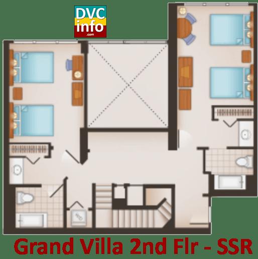 Grand Villa 2nd floor plan - Saratoga Springs Resort
