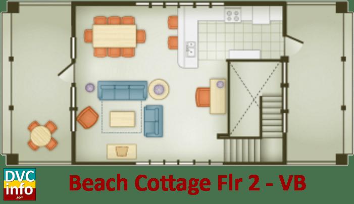 Beach Cottage 2nd floor plan - Vero Beach Resort
