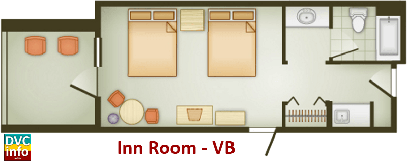 Inn Room floor plan - Vero Beach Resort