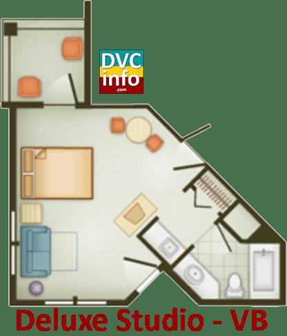 Studio floor plan - Vero Beach Resort