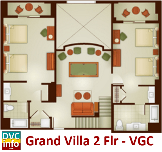 Grand Villa 2nd floor plan - Villas at the Grand Californian