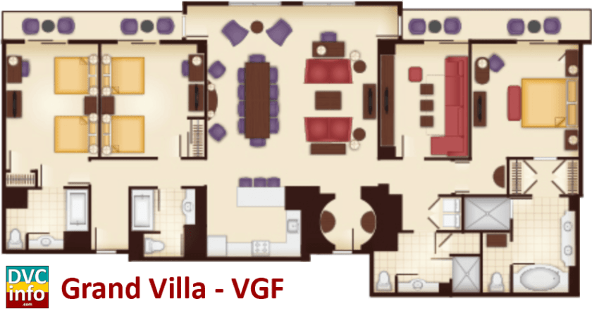 Grand Villa floor plan - Villas at the Grand Floridian