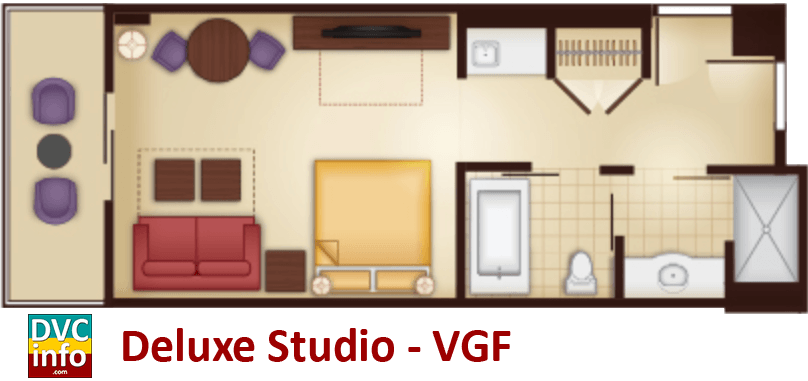 Studio floor plan - Villas at the Grand Floridian