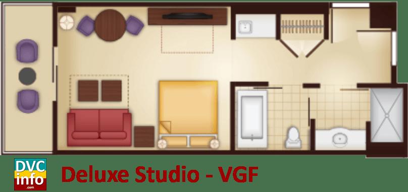 Studio floor plan - Villas at the Grand Floridian